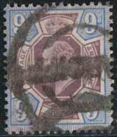 GB 1902 Yv. N°115 - 9p Bleu Et Violet-brun - Oblitéré - 1902-1951 (Rois)