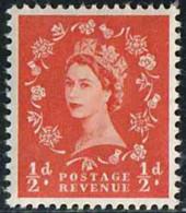 GB 1952 Yv. N°262 - 1/2p Rouge-orange - Neuf ** - 1952-.... (Elizabeth II)