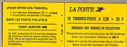 CARNET 2629-C1     COTE:  34 € - Usage Courant