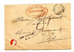 France, Lettre De La Caisse Des Dépots, Taxe Manuscrite (25c.) + Griffe TAXE RECTIFIEE R.2. - (B2121) - Marcophilie (Lettres)