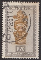 240 Congo Belga 1950  Sculture In Legno Tshimanyi, And  Idol Used - Congo Belga