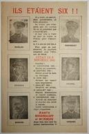 WW2 TRACT PROPAGANDE VICHY ILS ÉTAIENT SIX ANTI-ALLIÉS AFRIQUE Du NORD ANTI-ANGLAIS ANTI-AMÉRICAINS 1943 - Documenti Storici