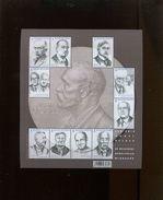 Belgie 2016 BL244  4636/45 Nobel Prize Winners Heymans Maeterlinck Pire Fontaine Beernaert Bordet De Duve  MNH - Blocs 1962-....