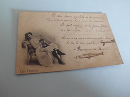 LISE FLEURON ..CACHET DOULLENS 1900 - Artistes