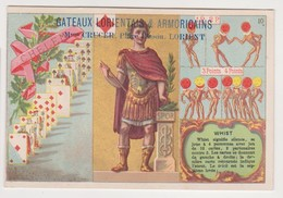 26854 Chromo Gateaux Lorientais CRUCER Place Bisson Lorient 56 France - Patissier Whist Jeux Cartes Chelem - Confiserie & Biscuits