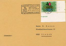 SVIZZERA - SAIGNELEGIER  - CONCOURS HIPPIQUE CHEVAUX  NATIONAL 1974 - Ippica