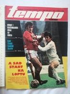 1975 TEMPO YUGOSLAVIA SERBIA SPORT FOOTBALL MAGAZINE NEWSPAPERS World Cup Cruyff Beckenbauer TABLE TENNIS KOLKATA Triple - Deportes