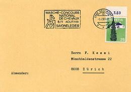 SVIZZERA - SAIGNELEGIER  - CONCOURS HIPPIQUE CHEVAUX  NATIONAL 1981 - Ippica
