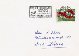 SVIZZERA - SAIGNELEGIER  - CONCOURS HIPPIQUE CHEVAUX  NATIONAL 1987 - Ippica