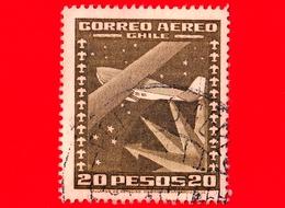 CILE  - Usato - 1945 - Aereo - Aviazione - Plane In The Sky - 20 P. Aerea - Cile