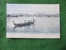 VINTAGE ITALY: Venezia Panorama E Gondola Blue Tint AP - Italia