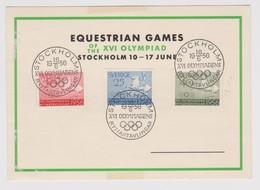 Equitation 1956 :   XVI èmes Olympiades, Stockholm (Suède) - Jumping