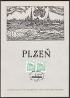 Rep. Ceca / Foglio Commemorativo (PaL 1995/01) Plzen 1: La Fondazione Di Pilsen, Il Re Venceslao II. (1295) - Blocchi & Foglietti