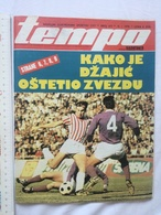 1979 TEMPO YUGOSLAVIA SERBIA SPORT FOOTBALL MAGAZINE NEWSPAPERS DZAJIC RED STAR Joe Frazier AIBA BOX BOXING ARMY OLYMPIC - Sports