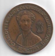 LUXEMBOURG - GD Charlotte & Chateau Du Berg Medal - Banque Et Caisse D'Epargne De L'Etat - Kramer Swiss - Monarquía / Nobleza