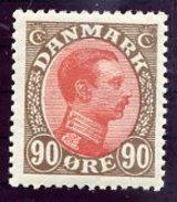 DENMARK 1920 King Christian X Definitive 90 Øre MNH / ** .  Michel 108 - 1913-47 (Christian X)