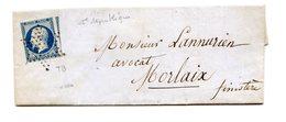 France, N°10 Grand Voisin (25c. République) Sur Lettre De Paris à Morlaix, Etoile Muette - (B2127) - 1849-1876: Periodo Clásico