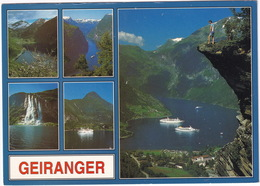 Geiranger - The Geiranger Fjord - Cruise-ships - Norge - Norway - Noorwegen