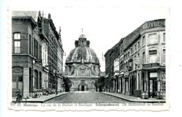 Montaigu - La Rue De La Station Et Basilique - Scherpenheuvel - De Statiestraat En Basiliek / Albert 45 / Bazar Kruis - Scherpenheuvel-Zichem