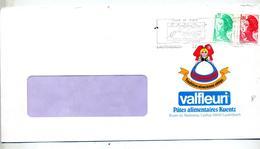 Lettre Flamme Lautenbach Ski  Entete Pate Valfleuri Alsace - Marcophilie (Lettres)
