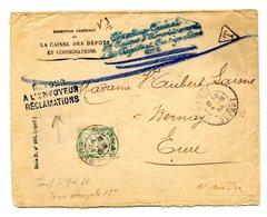 France Lettre Taxée, Griffe T + RETOUR A L'ENVOYEUR RECLAMATION + REFUSE (au Dos) - (B2128) - Marcophilie (Lettres)