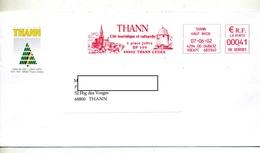 Lettre Flamme Ema Thann Cite Tourisme Entete Mairie - Marcophilie (Lettres)