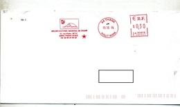 Lettre Flamme Ema Thann Relais Culturel - Marcophilie (Lettres)