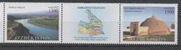 UZBEKISTAN ,2017, MNH, SIRDAYA REGION, RIVERS, MOUNTAINS, LANDSCAPES,2v+TAB - Geography