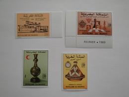 1988 - 1989 Maroc Yv 1064/7 ** MNH Sujets Divers Cote 5.90 €  Michel 1152 + 1154/6 Scott 670/3 - Maroc (1956-...)