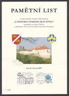 Tchéquie / Feuille Commémorative (PaL 2007/01) 267 05 Nizbor: Exposition Scoute Au Château De Nizbor - Châteaux