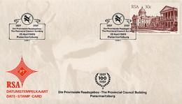 RSA - SUD AFRICA - 1989 - PIETERMARITZBURG - PROVINCIAL COUNCIL BUILDING - FDC