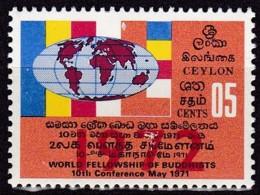 Sri Lanca, 1972, 426 I, 10. Buddhistische Weltkonferenz.  MNH ** - Sri Lanka (Ceylan) (1948-...)