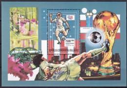 Madagaska,1992, 1403 Block 201 A, Fußball-Weltmeisterschaft 1994, USA.  MNH ** - Madagaskar (1960-...)