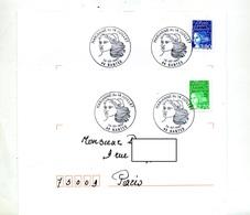 Lettre Cachet Nantes Marianne Du 14 Juillet - Marcophilie (Lettres)