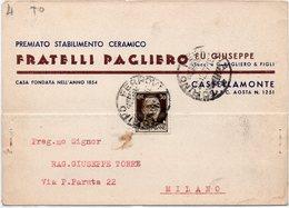 Torino - Castellamonte - Fratelli Pagliero - Vg1937 - Italia