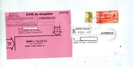 Avis De Reception Recommandee Nantes Rollin Sur Hydravion - Marcophilie (Lettres)
