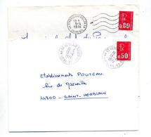 Lettre Cachet Flamme Muette Saint Herblain Annexe GA - Marcophilie (Lettres)