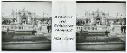 Positif Stéréo . Marseille 1906 . Exposition Coloniale  Le Pavillon De L'Indochine . - Photos Stéréoscopiques