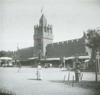Positif Stéréo . Marseille 1906 . Exposition Coloniale  Le Pavillon De L'Afrique Centrale . - Photos Stéréoscopiques