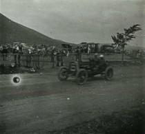 Positif Stéréo . Circuit D'Auvergne 1905 . Course Automobile . Coupe Gordon Bennett . Voiture N° 2 ? - Photos Stéréoscopiques