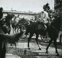 Positif Stéréo . Montpellier 10 Juin 1905 . Le Général Joffre Et M. Laissac Président Du Conseil Général . - Photos Stéréoscopiques