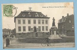 F0322  CPA  SERAING  (Belgique)  Hôtel De Ville Et Statue Cockerill   ++++++ - Seraing