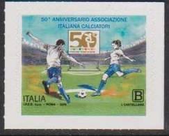 ITALY, 2018, MNH, FOOTBALL, SOCCER,50th ANNIVERSARY OF ITALIAN FOOTBALLERS' ASSOCIATION, 1v - Soccer