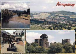1 AK Wales * Ansichten Von Abergavenny U.a. Castle Und Eine Luftbildaufnahme - Monmouthshire * - Monmouthshire