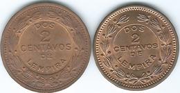 Honduras - 2 Centavos - 1956 (KM78) & 1974 (KM78a) - Honduras