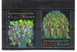 GEO617 UNO WIEN 2011  MICHL  736/37 JAHR Der WÄLDER ** Postfrisch - Wien - Internationales Zentrum