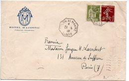 Semeuse + Paix - Lettre 1938 En-tête 'Hôtel MAJESTIC / Caracas - Vénézuéla - CaD 'COLON Au HAVRE L. N° 1' - Froissures - Marcophilie (Lettres)
