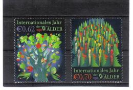 GEO619 UNO WIEN 2011  MICHL  736/37 JAHR Der WÄLDER ** Postfrisch - Ungebraucht