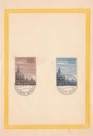 Vaticano Souvenir Stamps   Cupoloni Del 10/08/1953 Posra Aerea - FDC