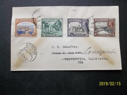 Cyprus: 1938 Cover To USA (#EN5) - Chypre (...-1960)